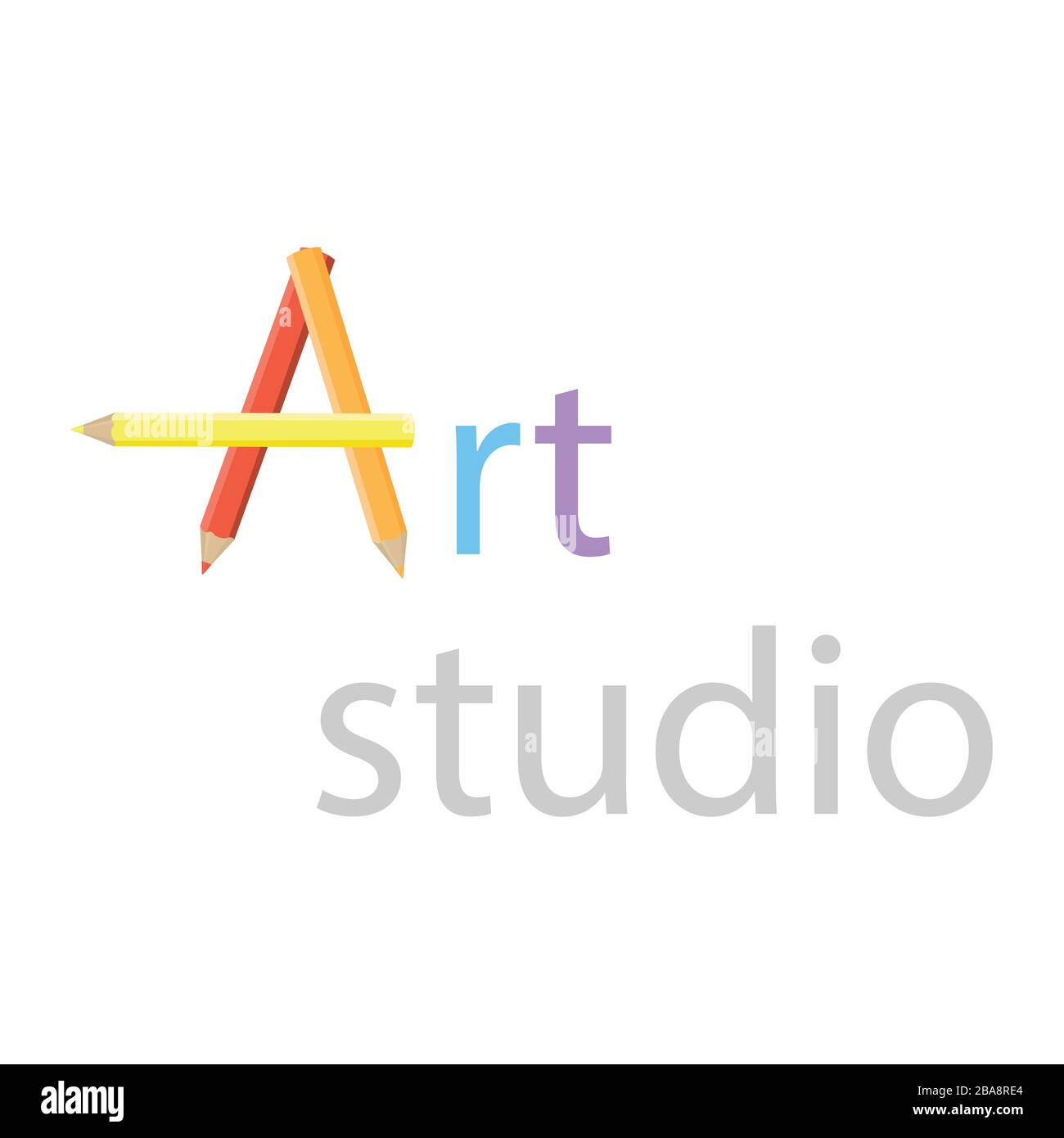 Art Studio Logo Design Element Vector Creative Workshop Stock Vector Image Art Alamy,Simple King And Queen Crown Tattoo Designs