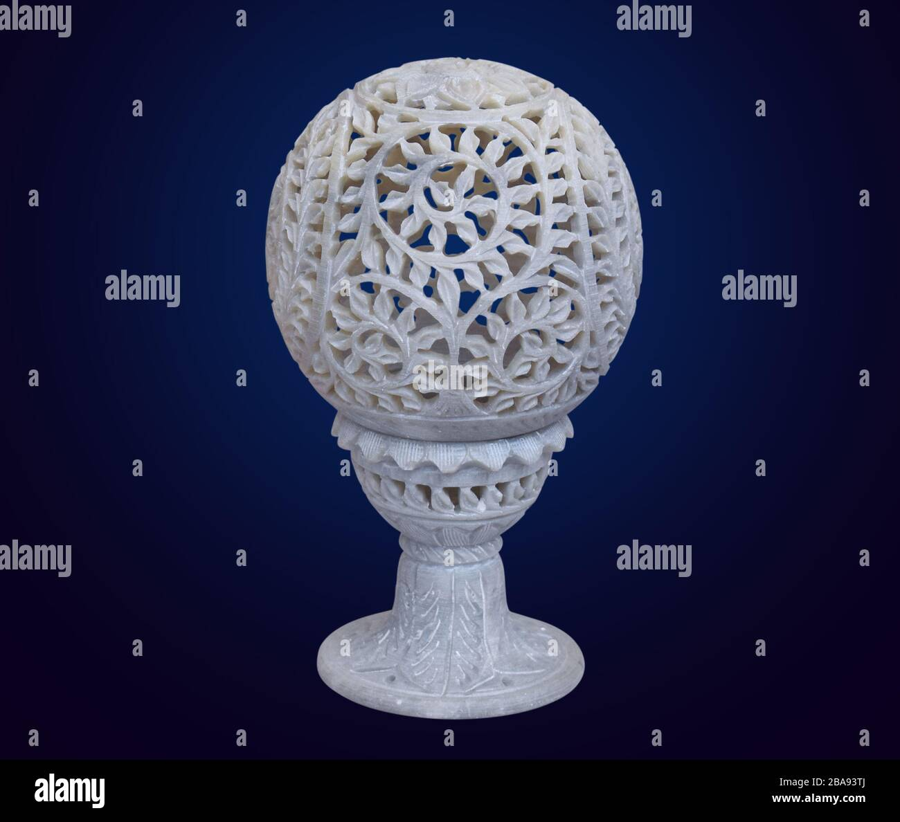 Antique Marble Table Lamp Marble Showpiece Home Decor Item Stock Photo Alamy