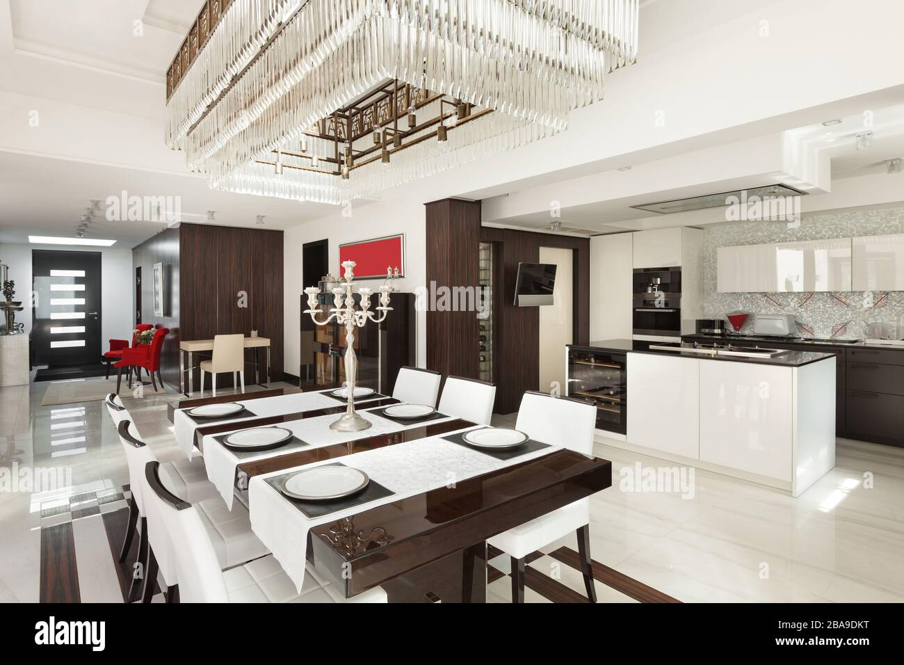 Architecture Modern House Beautiful Interiors Dining Room Stock Photo Alamy