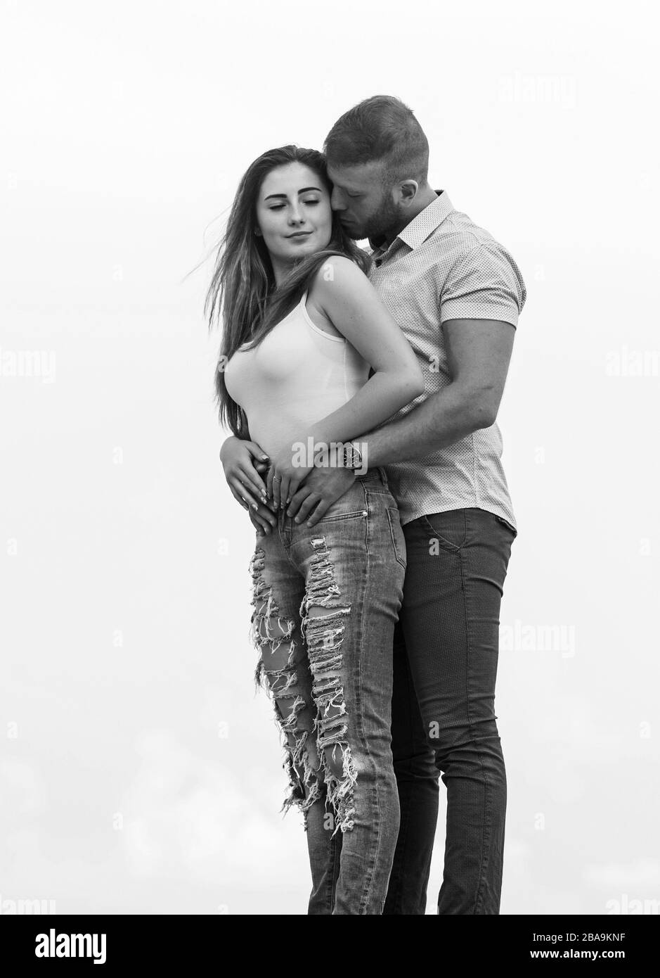 True Love Cute Relationship Man And Woman Cuddle Nature Background Supporting Her Family Love Devotion And Trust Couple In Love Together Forever We Two Love Story Romantic Relations Stock Photo Alamy