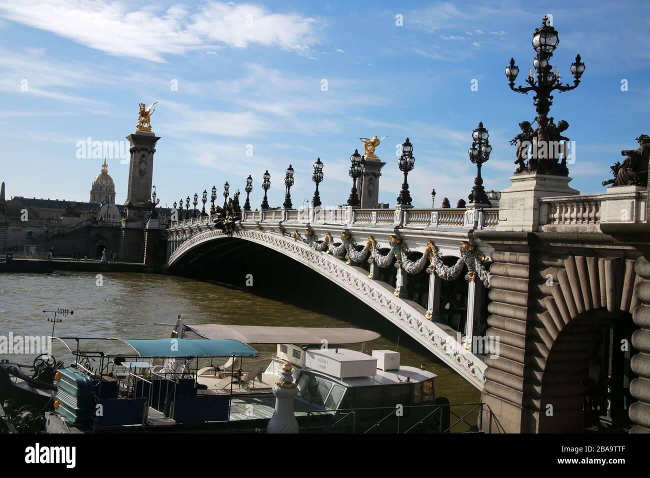 The River Seine, Paris, France Stock Photo