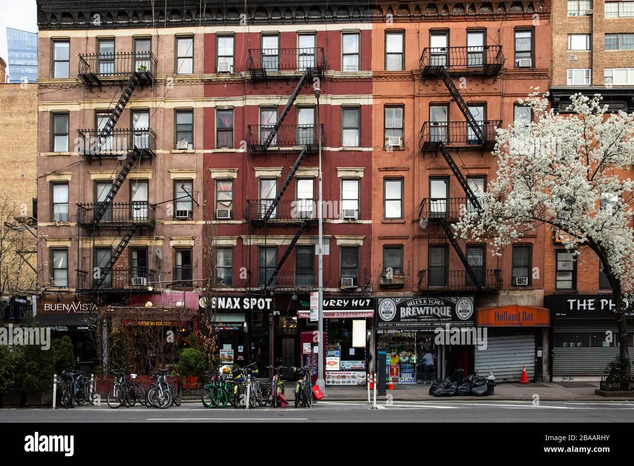 Hell S Kitchen Manhattan New York Stock Photo Alamy