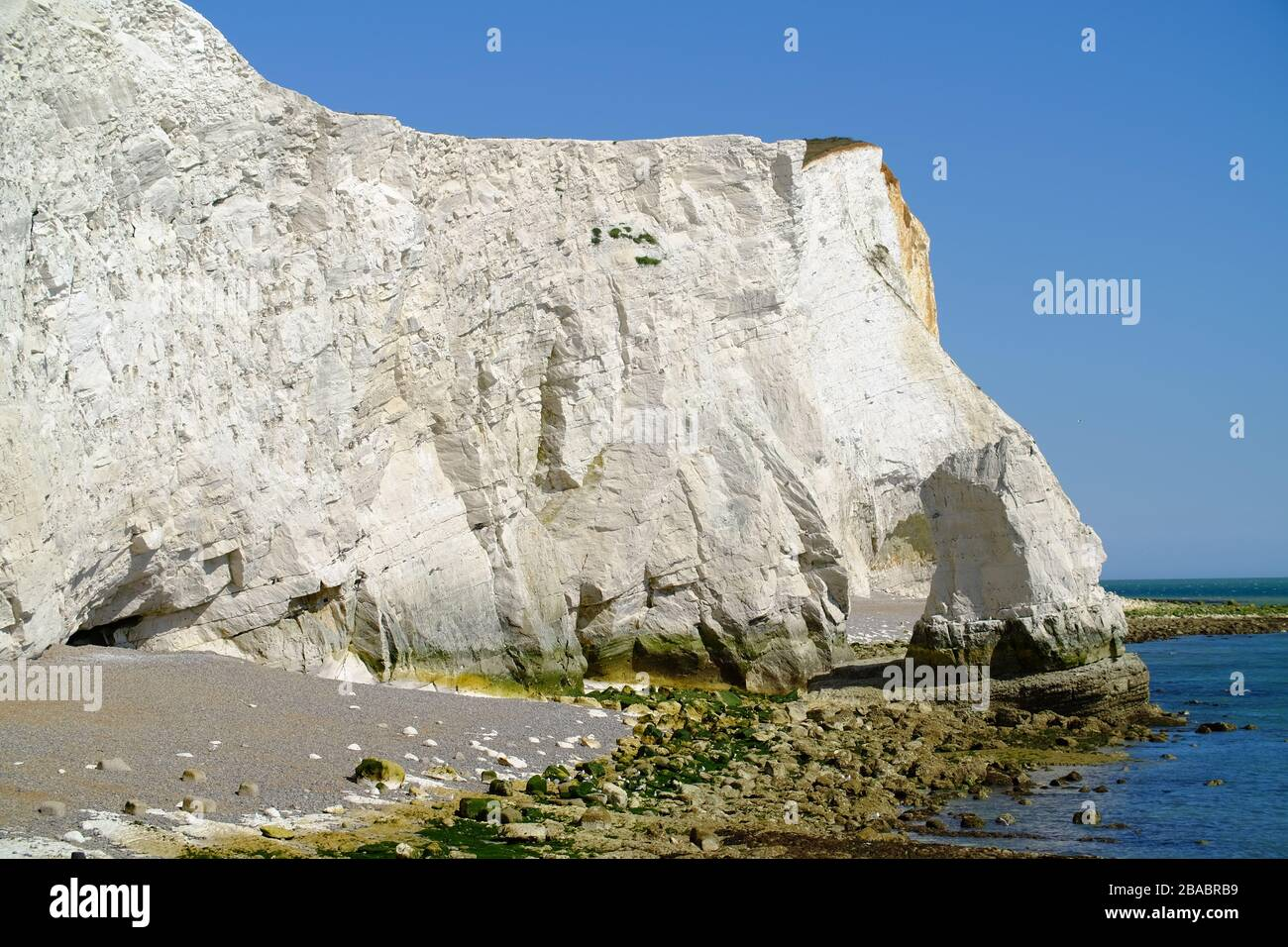 Chalk cliffs at Seaford Head, East Sussex, UK. Stock Photo