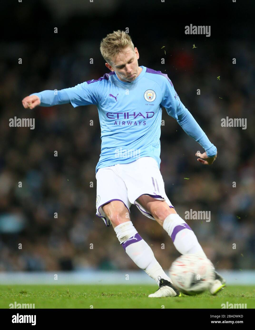 Manchester City's Oleksandr Zinchenko scores his side's first goal of the  game Stock Photo - Alamy
