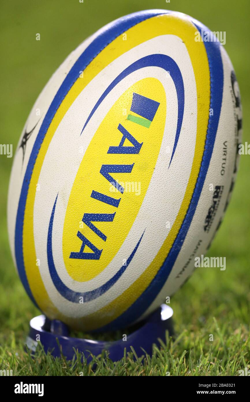 Detail Of The Match Ball On The Kicking Tee Stock Photo Alamy