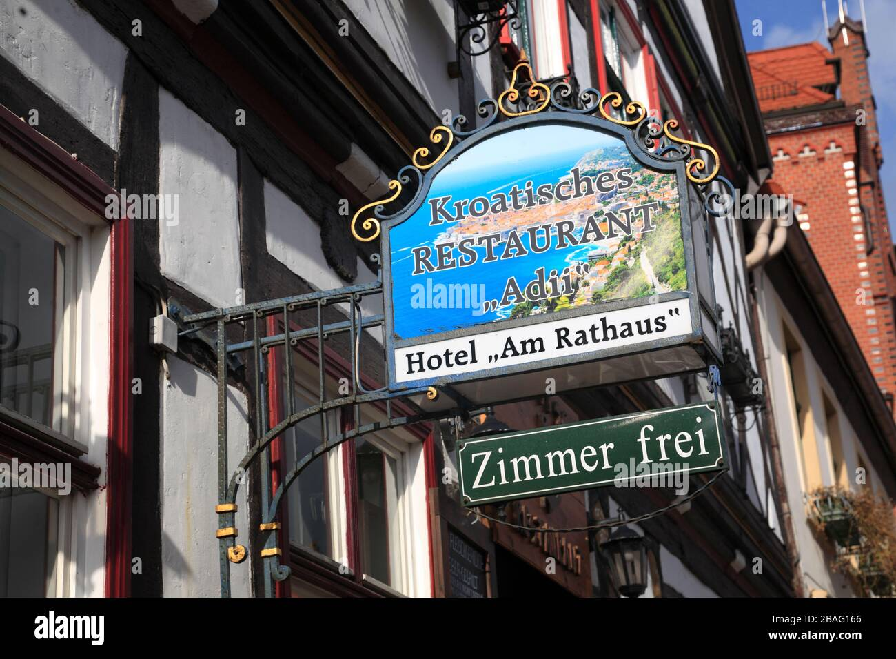 Tangermuende,  Tangermünde, Restaurant Adii,  Altmark, Saxony-Anhalt, Germany, Europe Stock Photo