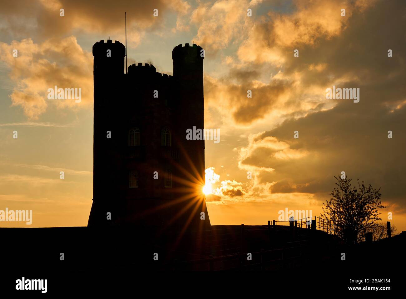Broadway Tower Worcestershire Cotswolds England Stock Photo