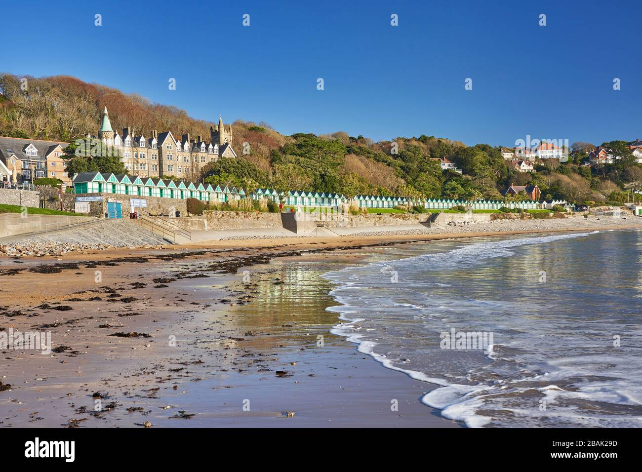 Langland Bay near Swansea Gower South Wales Stock Photo