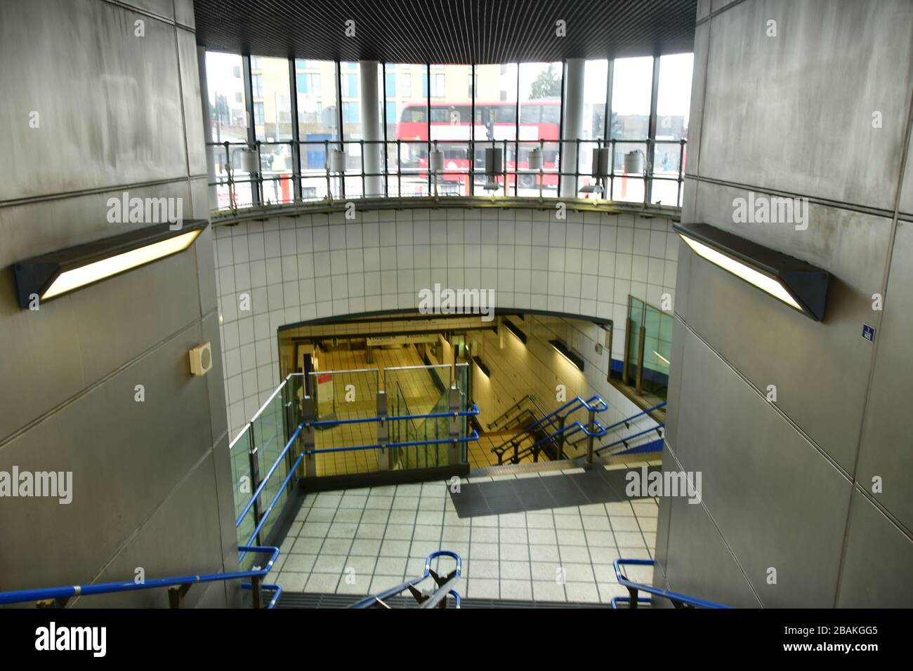 London, UK. 28th March 2020.  During the coronavirus in UK lockdown empty underground at Walthamstow Square,on 28 March 2020 London. Credit: Picture Capital/Alamy Live News Credit: Picture Capital/Alamy Live News Stock Photo