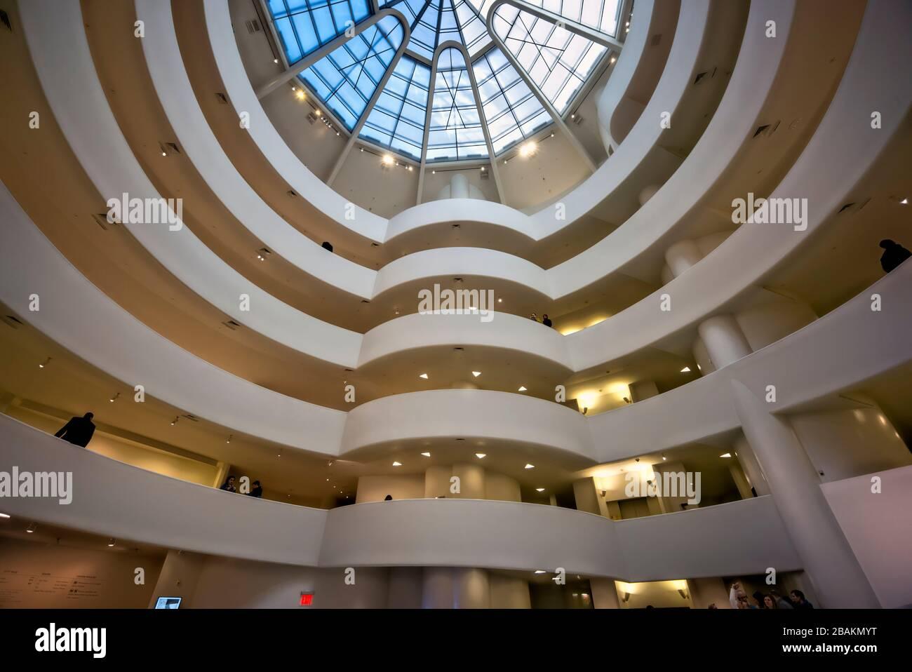 New York. Manhattan. Solomon Guggenheim Museum Stock Photo