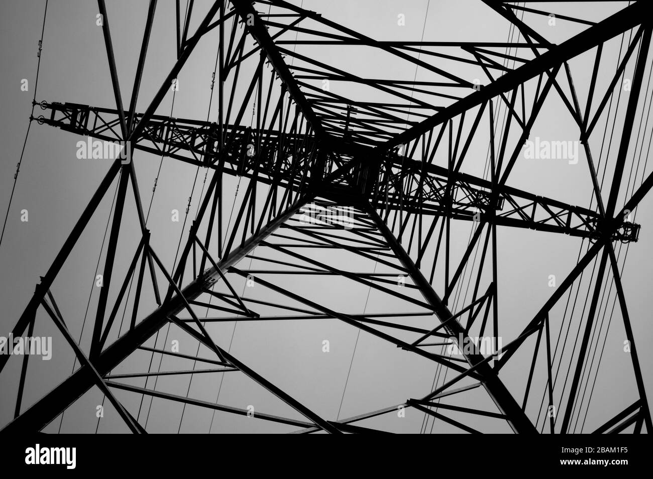 High Voltage Power Transmission Tower Power Line Stock Photo Alamy