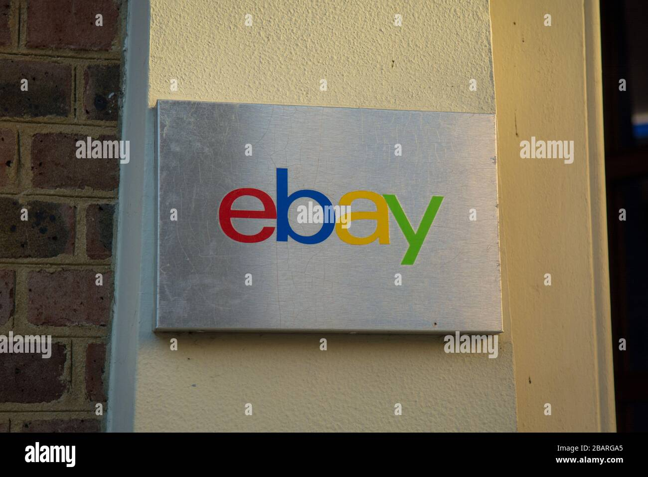Ebay Logo On The Exterior Of Their London Hq Offices In Richmond Stock Photo Alamy