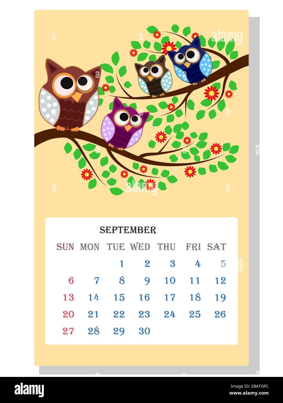 Owls Season Vector Wallpaper Wallpaper High Resolution Stock