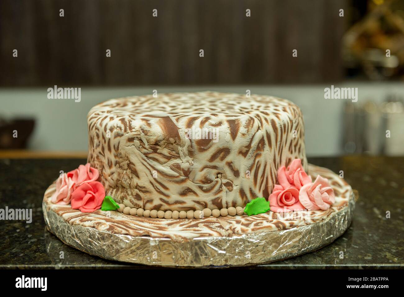 Fantastic Closeup Of Marbled Birthday Cake Of White And Dark Chocolate Funny Birthday Cards Online Necthendildamsfinfo