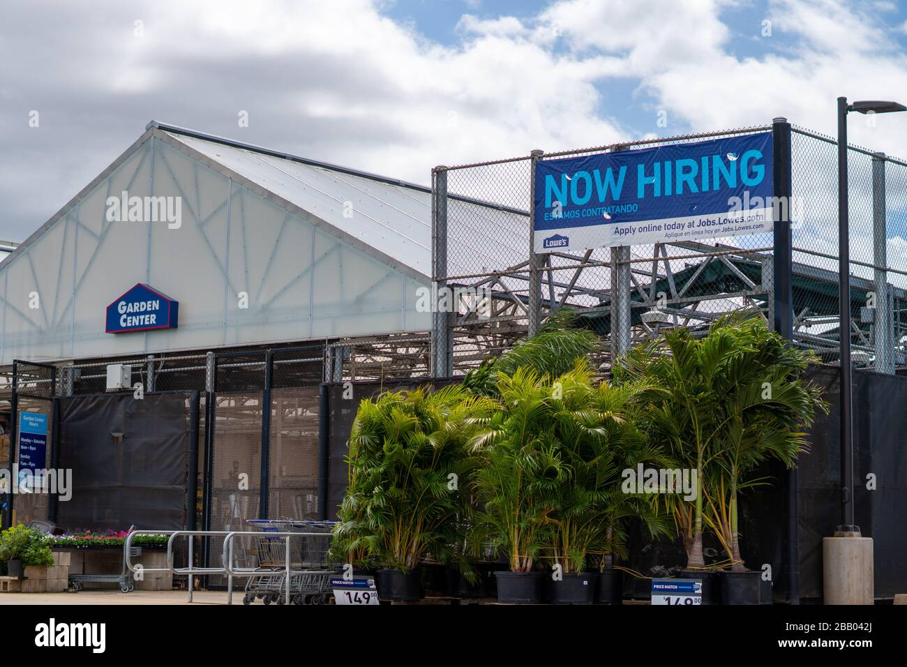 Lowe S Now Hiring Sign In Maui Hawaii During Covid 19 Pandemic Stock Photo Alamy Lahaina is a town on the western end of the island of maui, hawaii that abounds with restaurants, night clubs, and souvenir shops. alamy