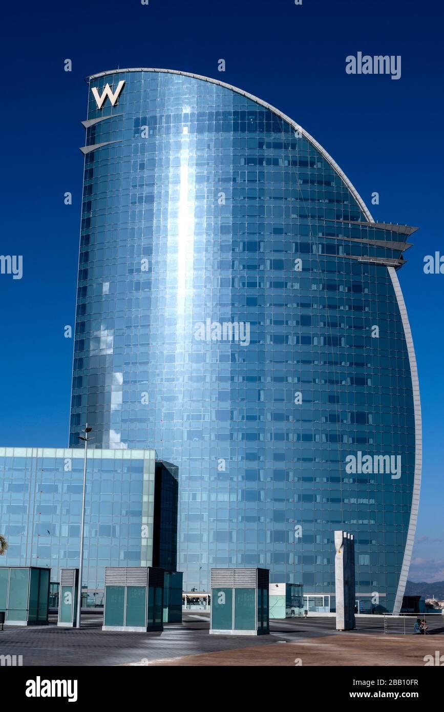 Vela hotel of Barcelona, Catalonia, Spain. Stock Photo