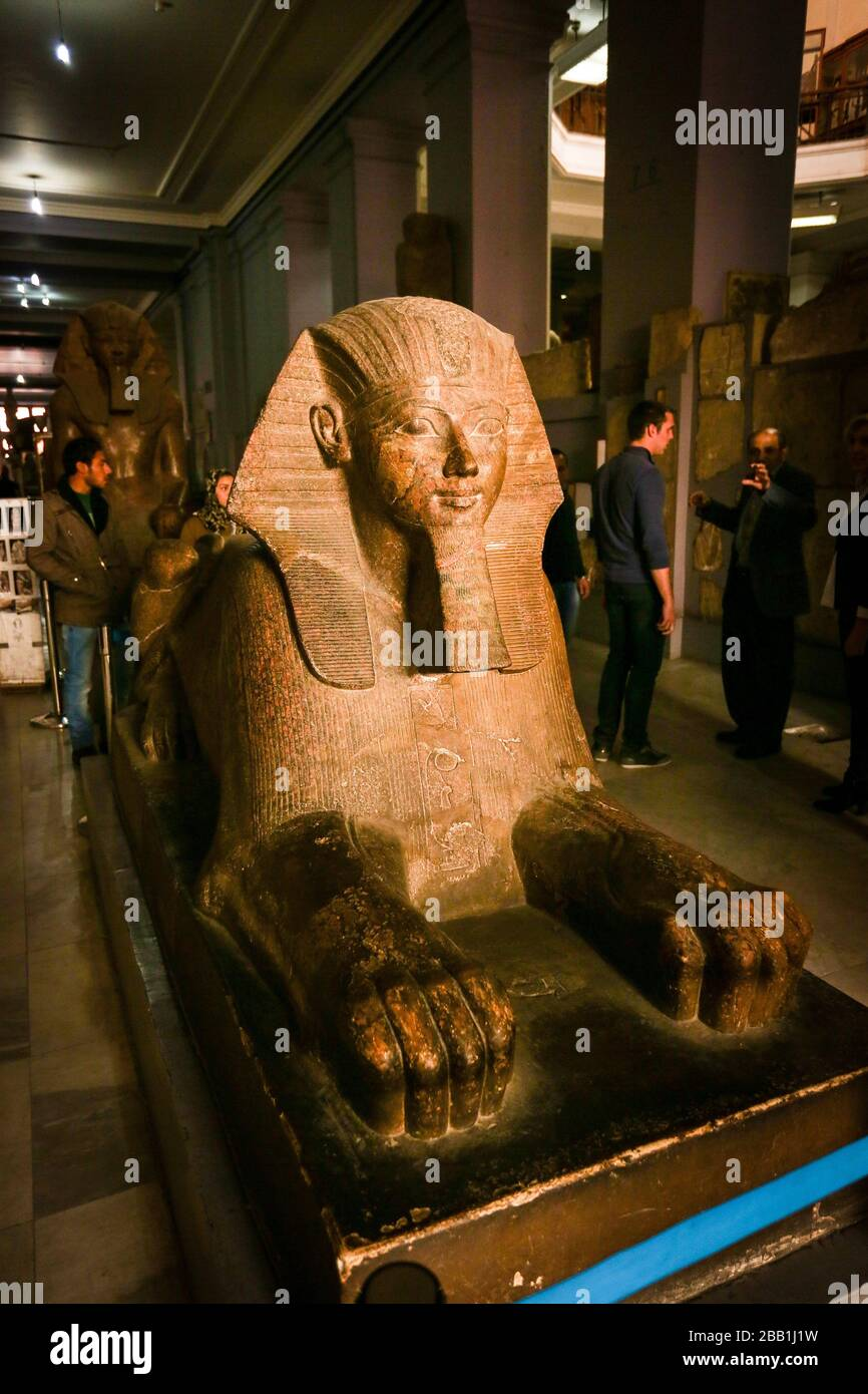 Ramses II statue, Egyptian Museum, Cairo, Egypt. Stock Photo