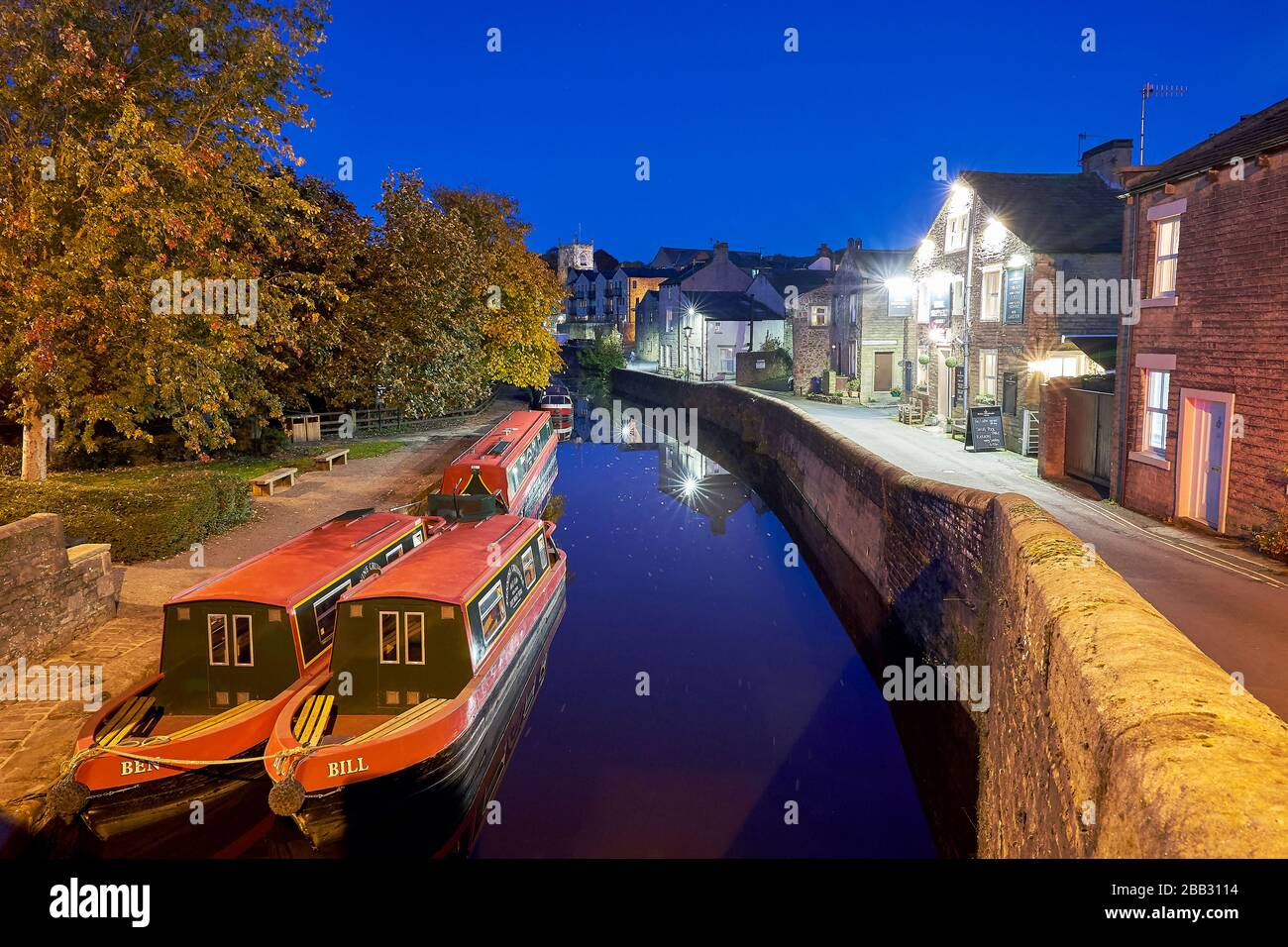 Leeds and Liverpool Canal Skipton Yorkshire Stock Photo