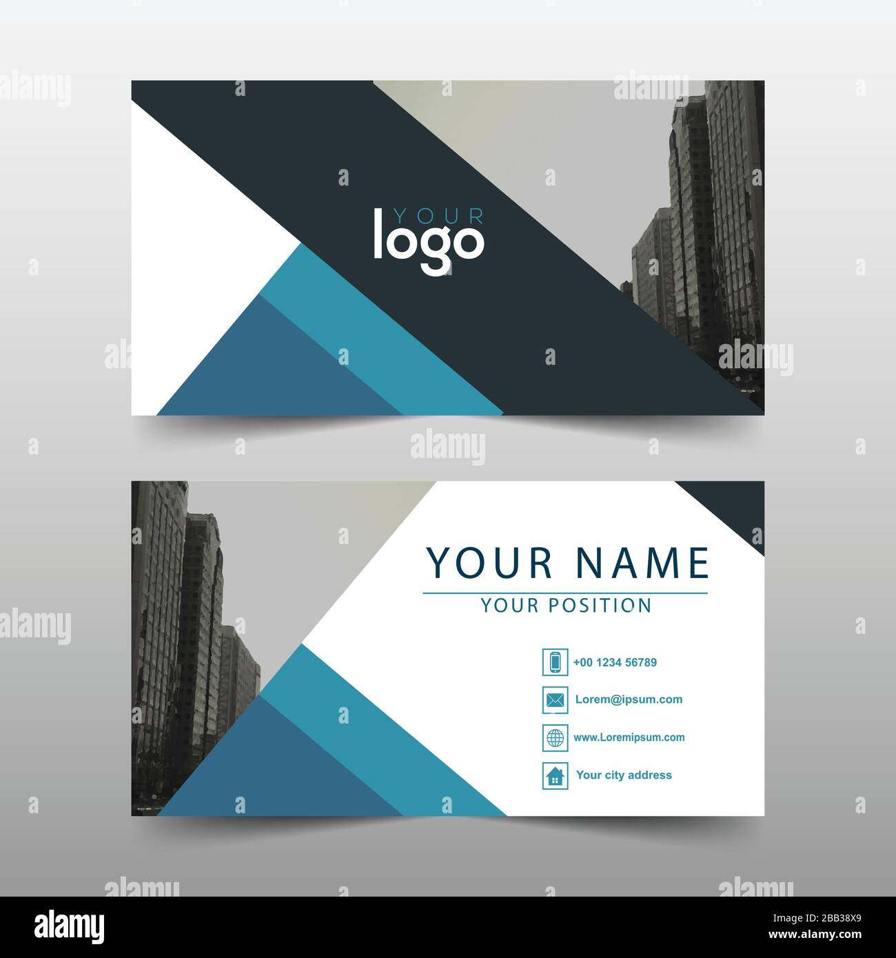 Real Estate Advertisement Business Card Template Stock Vector