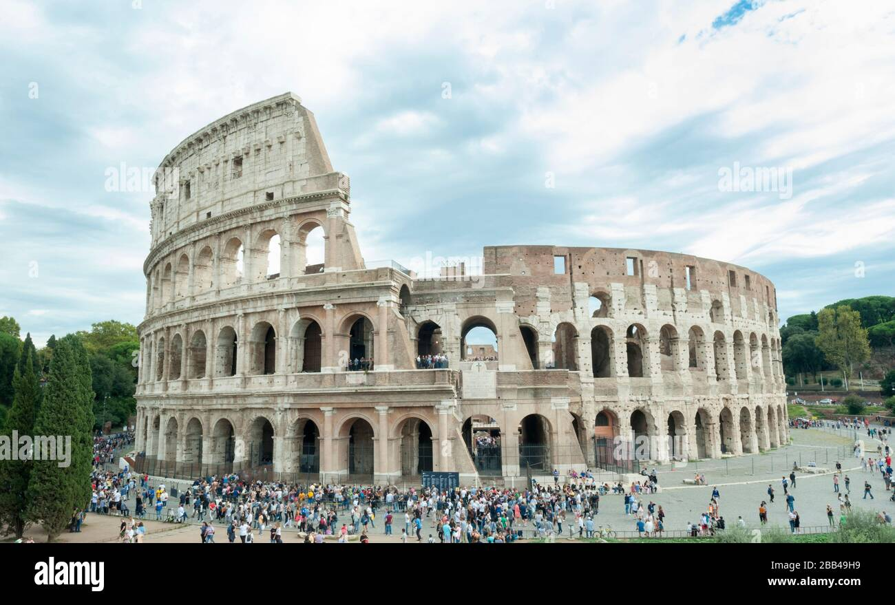 ROME, ITALY - OCTOBER 04, 2018: View of the Colosseum, Rome, Italy Stock Photo