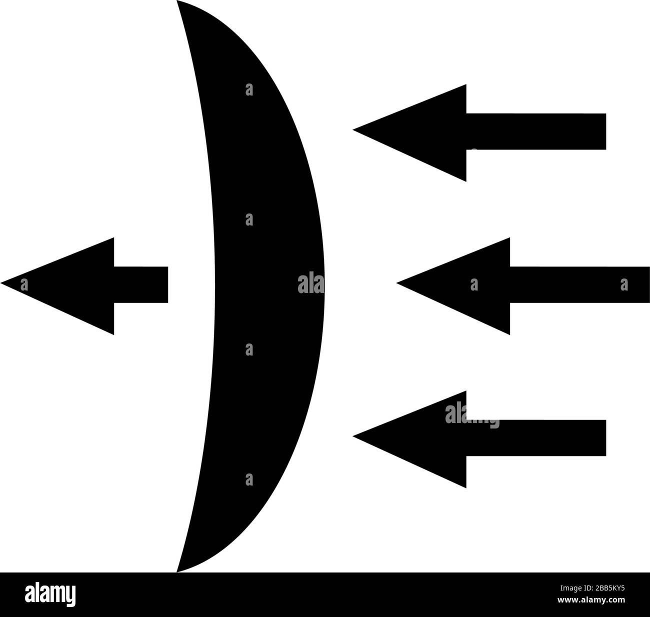 Contact Lens Light Transmission Dispersion Flat Vector Icon Illustration Simple Black Symbol On White Background Contact Lens Light Transmission S Stock Vector Image Art Alamy