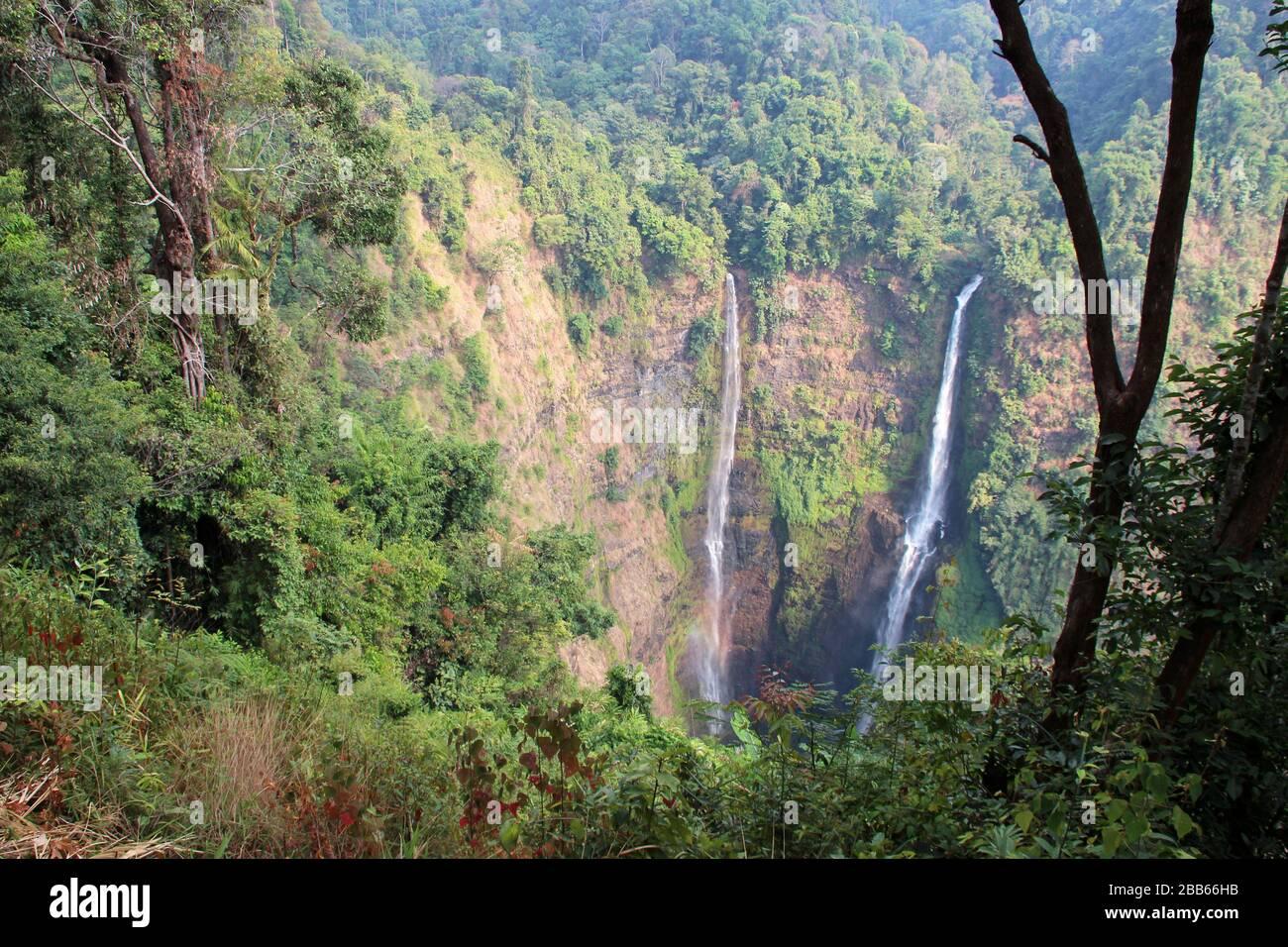 tad fane waterfalls in laos Stock Photo