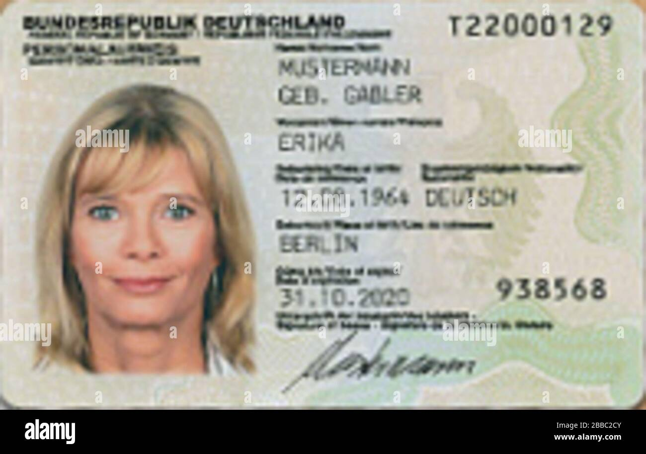 English Specimen Of A German Identity Card 5