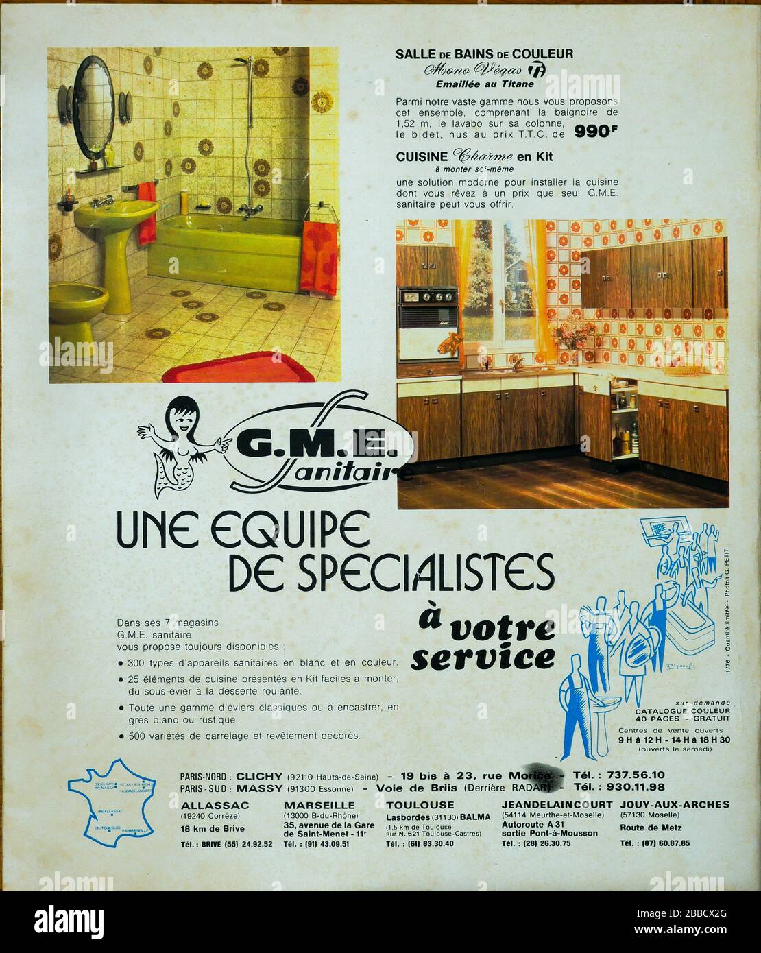 Advertising Page For Gme Sanitary Furnitures Backcover Of French