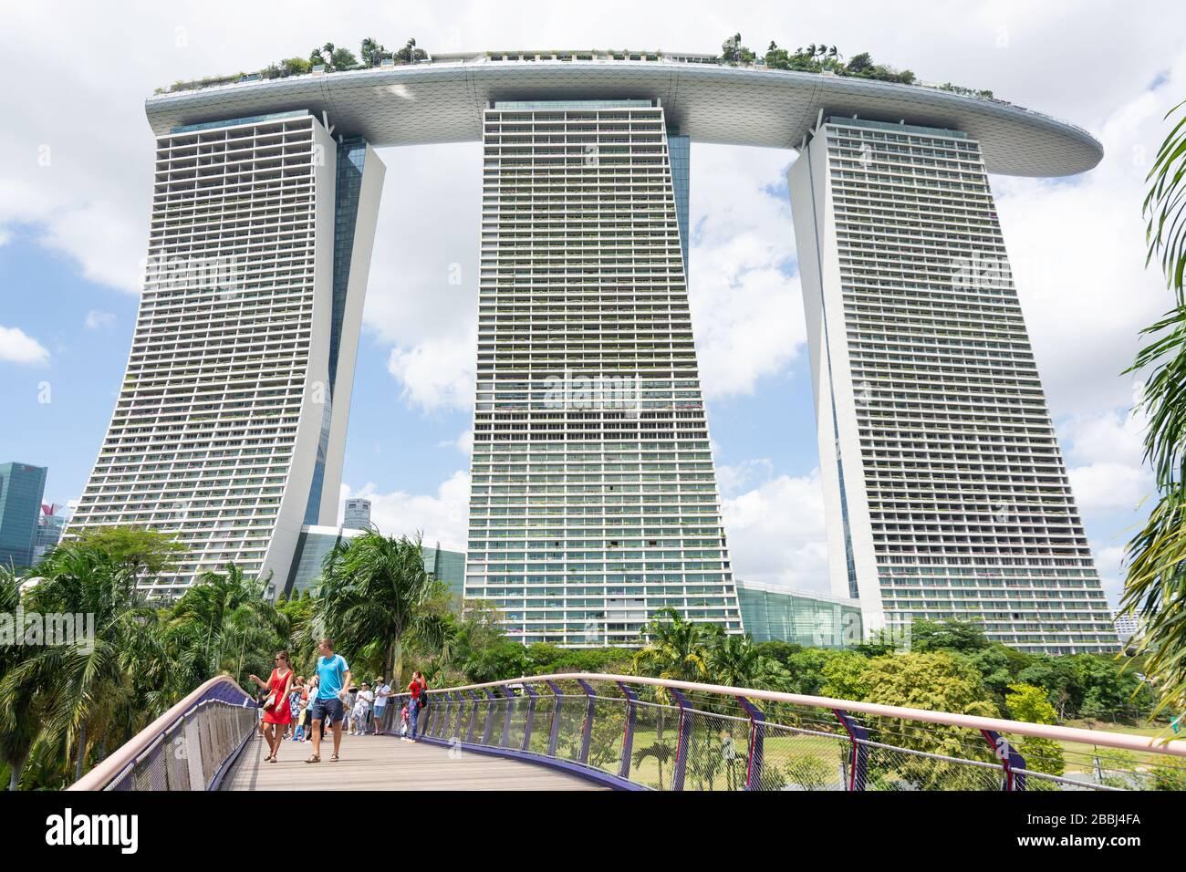 Marina Bay Sands Resort, Bayfront Avenue, Downtown Core, Singapore Island (Pulau Ujong), Singapore Stock Photo