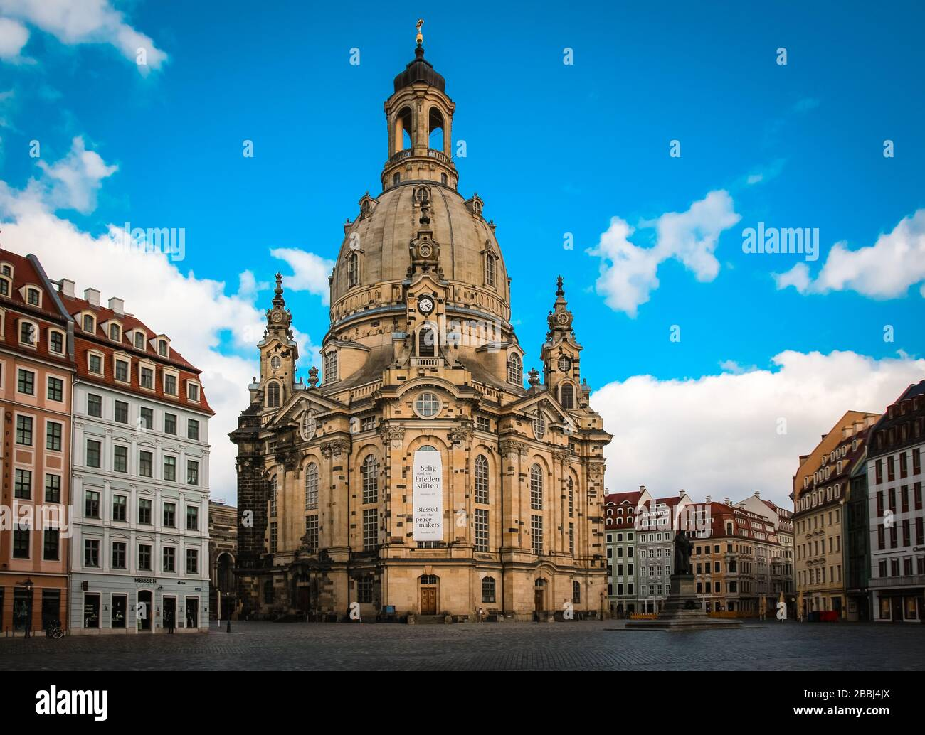 Dresden is a beautiful city in the east of Germany with impressive buildings in the Baroque style Stock Photo