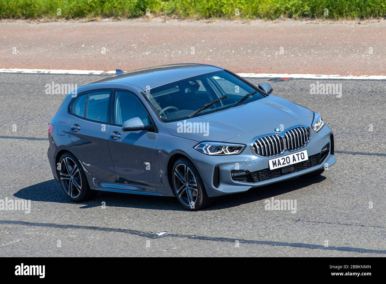 2020 Grey Bmw 1 Series F40 Vehicular Traffic Moving Vehicles Vehicle Driving Roads Motors Motoring On The M6 Motorway Highway Stock Photo Alamy