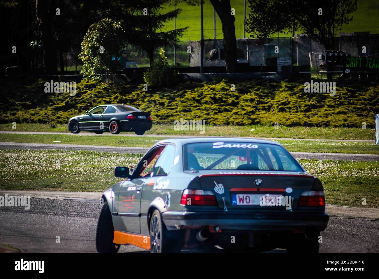 Bmw M3 Modified By Drift At The Go Kart Track In The Marche Region Of Italy Stock Photo Alamy