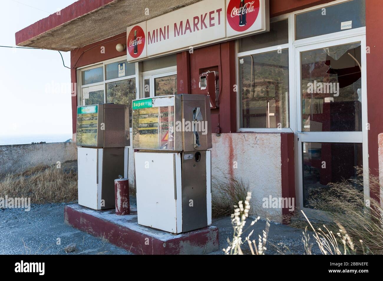 Petrol Gas Station Greece High Resolution Stock Photography And Images Alamy