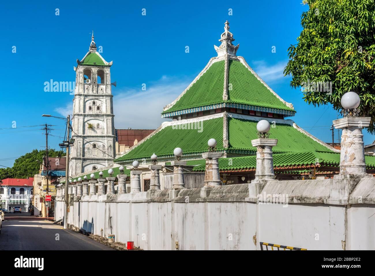 Kampung Kling Mosque, Malacca City, Malaysia Stock Photo
