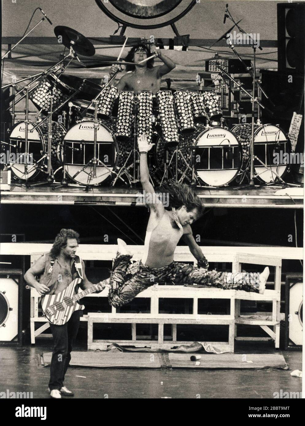 Van Halen Live In Stockholm August 25th 1984 Monsters Of Rock Outdoor At The Rasunda Football Stadium In The Afternoon Stock Photo Alamy