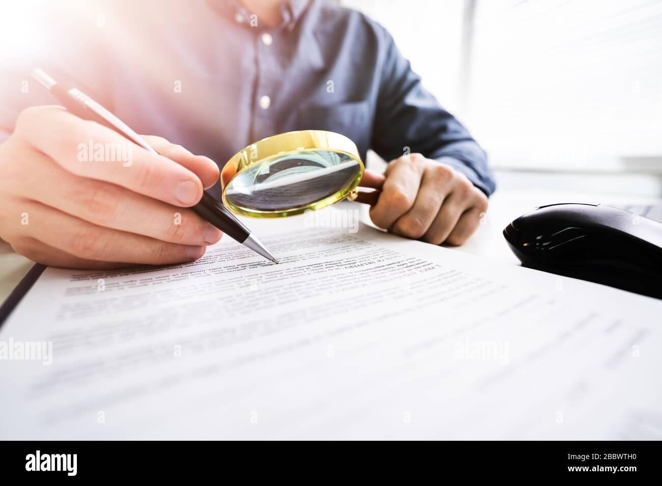 Man Magnifying Glass Book Stock Photos Man Magnifying Glass Book