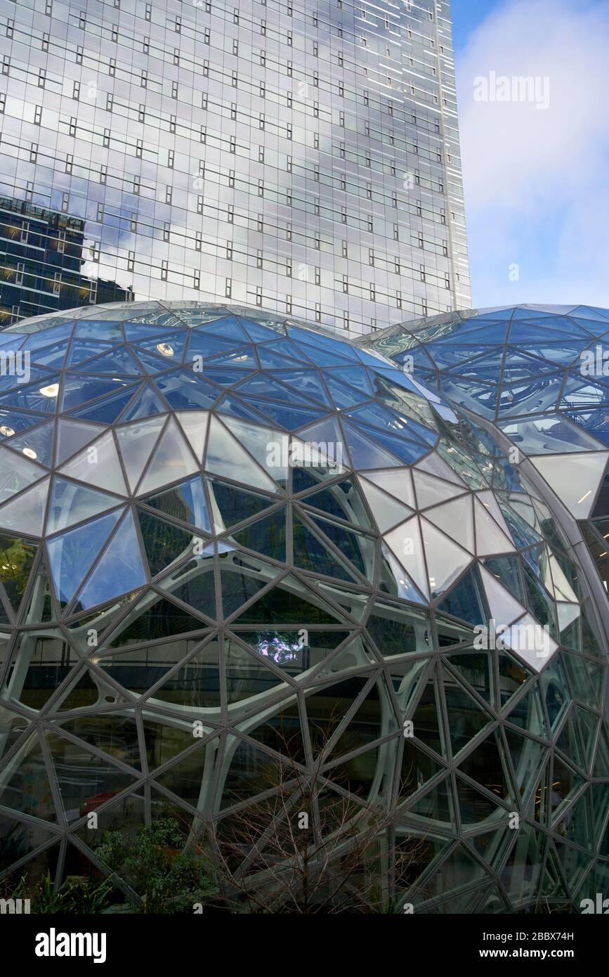 Spheres at Amazon's World Headquarters in Seattle, WA. Stock Photo