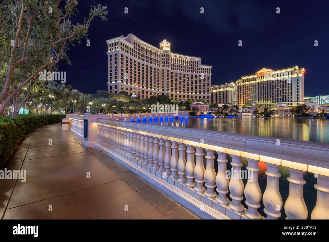 Bellagio hotel and casino in Las Vegas, Nevada Stock Photo
