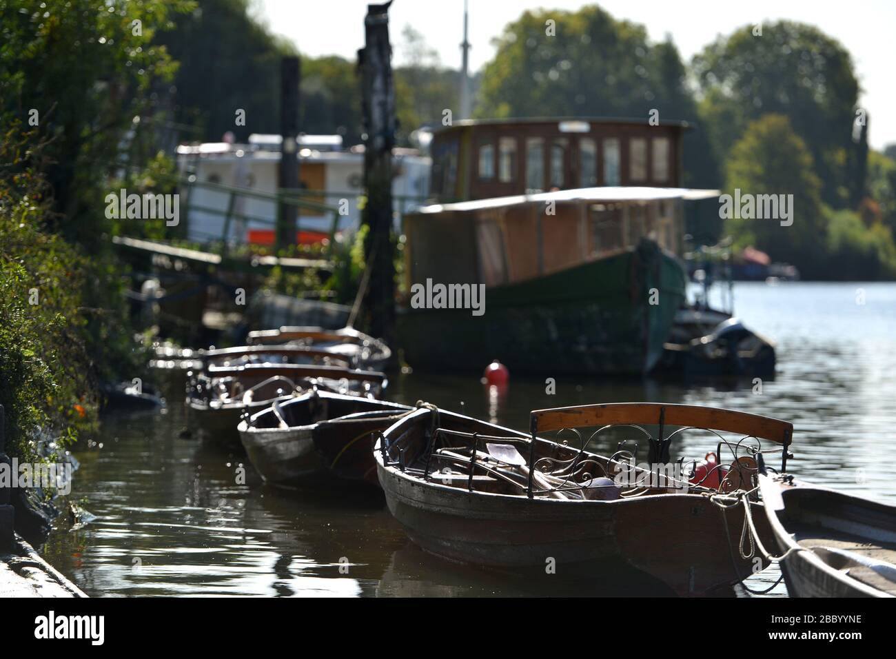 Boats on the Thames at Richmond, London, UK Stock Photo