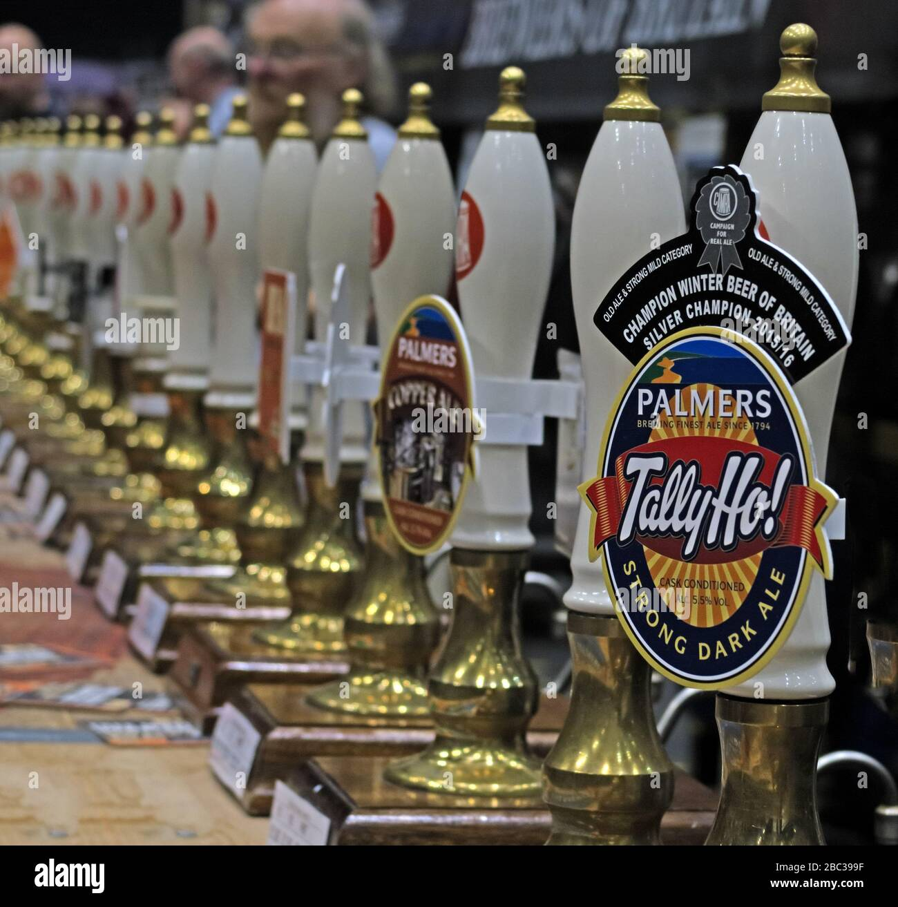 Tally Ho, Strong Dark Ale, Champion Winter Beer of Britain, at Manchester Beer Festival, Manchester Central 2017 Stock Photo