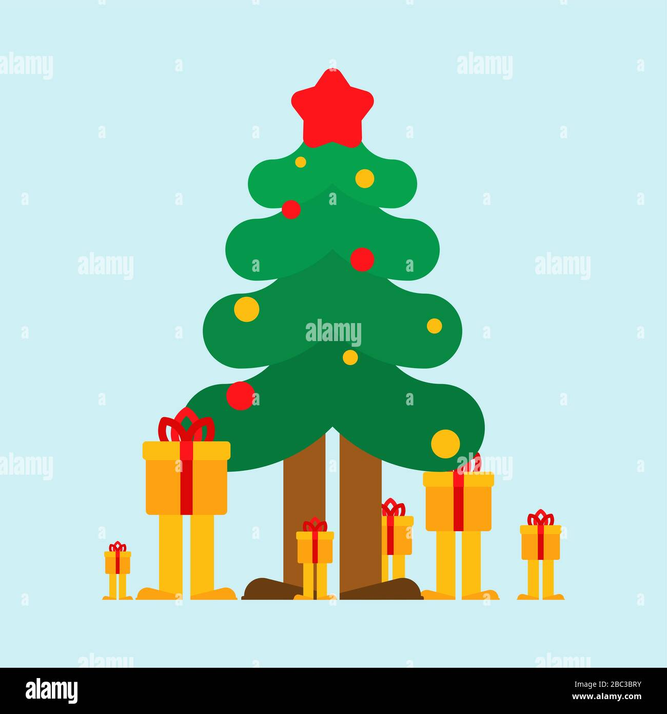 Christmas Tree And Gifts Cartoon Xmas And New Year Stock Vector Image Art Alamy Choose from over a million free vectors, clipart graphics, vector art images, design templates, and illustrations created by artists worldwide! https www alamy com christmas tree and gifts cartoon xmas and new year image351658383 html
