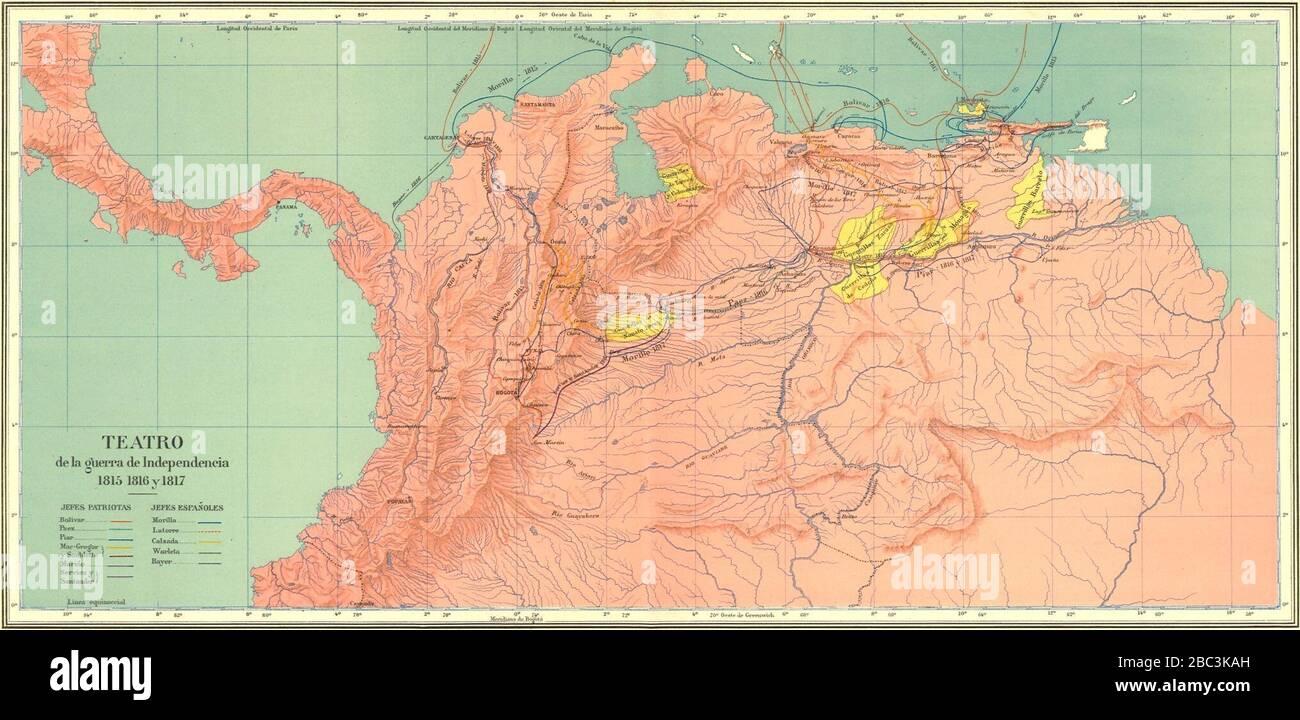 Guerras De Independencia En Colombia 1815 16 17 Stock Photo Alamy