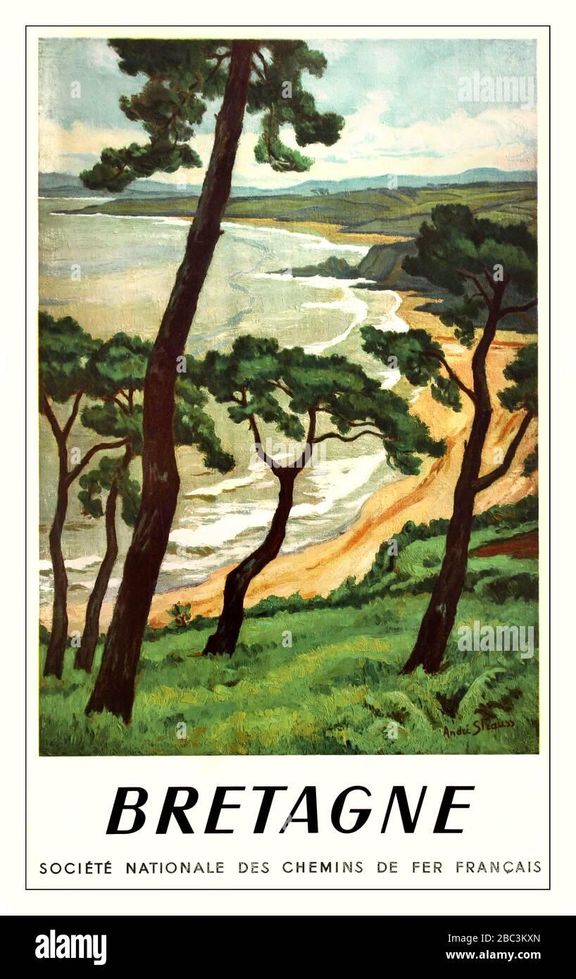 ANTIBES SA PLAGE DE JUAN-LES-PINS Vintage French Travel Poster Art Deco Print
