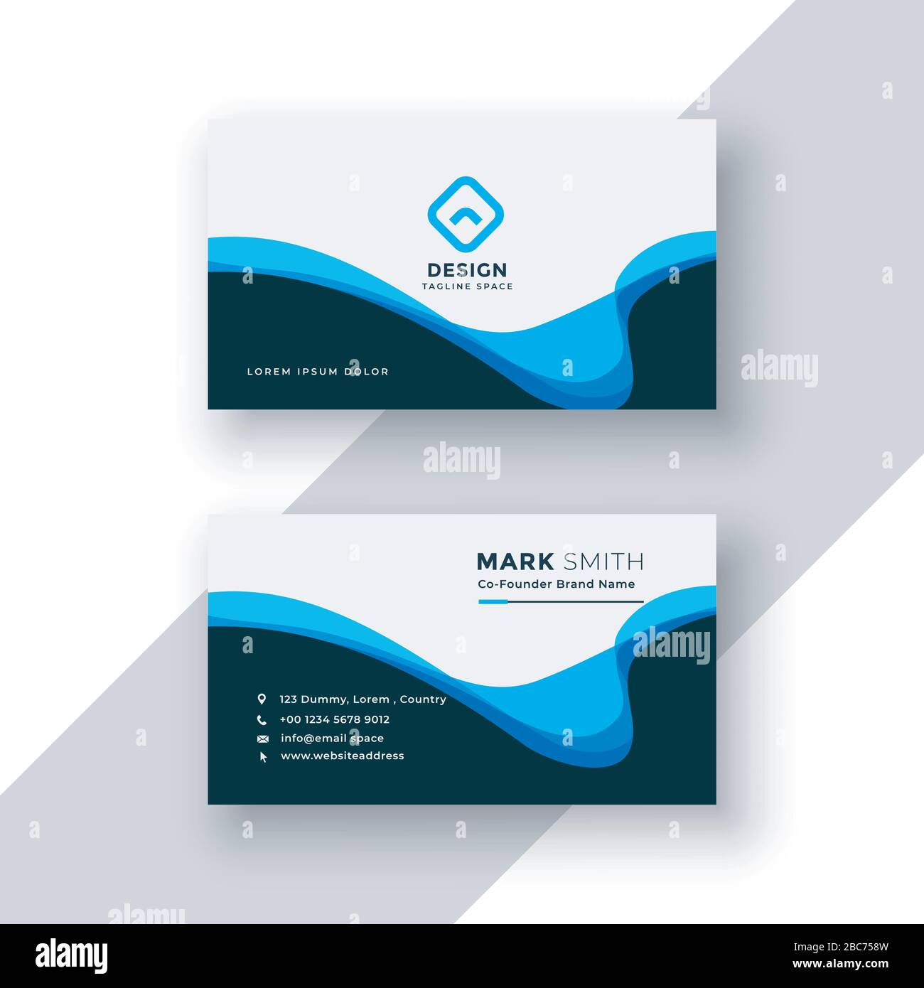 Modern Professional Business Card Template Stock Vector Image Art Alamy