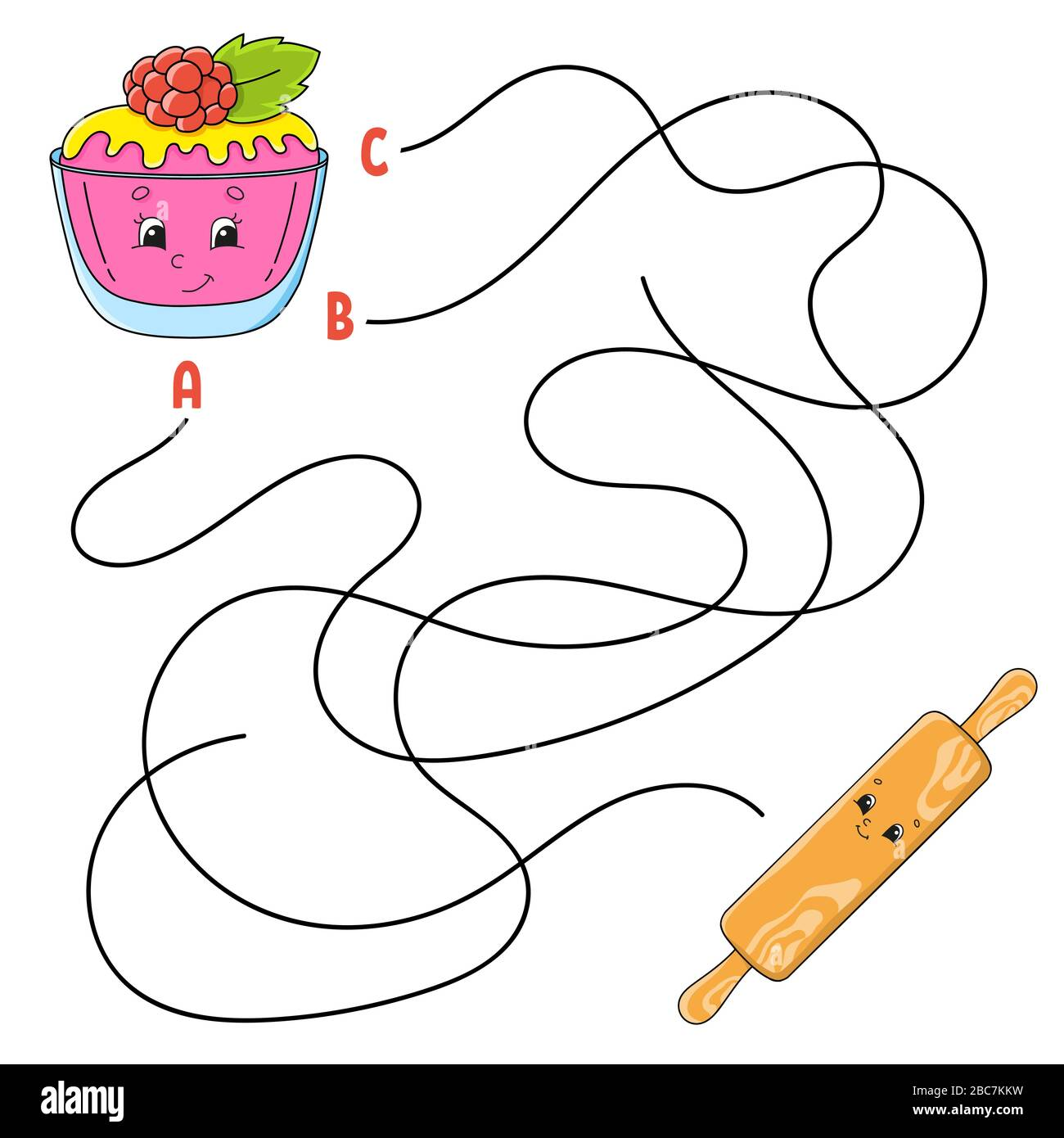 Easy Maze Cake And Rolling Pin Labyrinth For Kids Activity