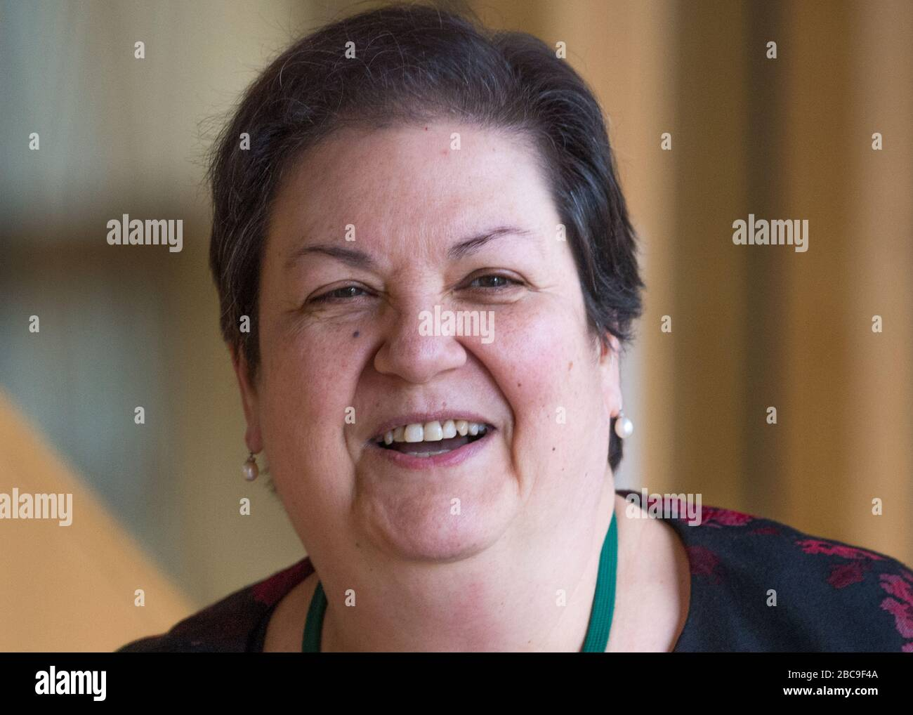 Edinburgh, UK. 5 March 2020. Pictured: Jackie Baillie MSP - Deputy Leader  of the Scottish Labour Party. Scenes from the Scottish Parliament in  Holyrood, Edinburgh Stock Photo - Alamy