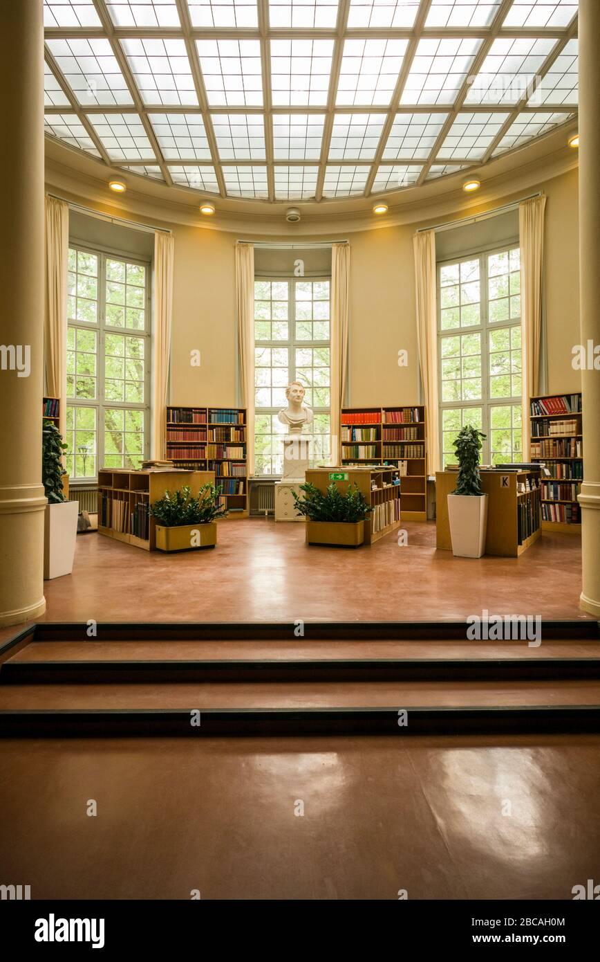 Sweden, Central Sweden, Uppsala, Carolina Rediviva Library, interior, Stock Photo