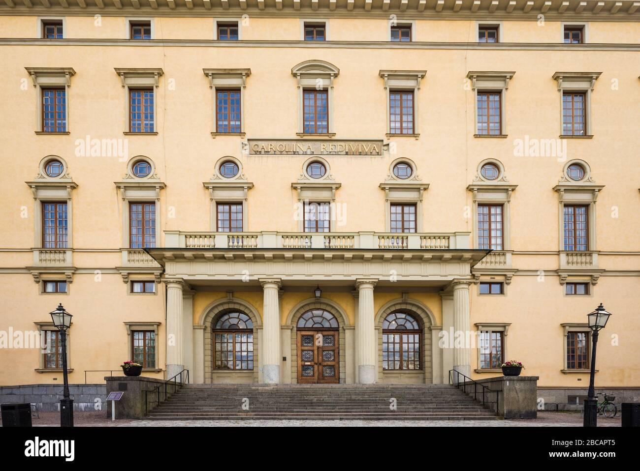 Sweden, Central Sweden, Uppsala, Carolina Rediviva Library, exterior Stock Photo