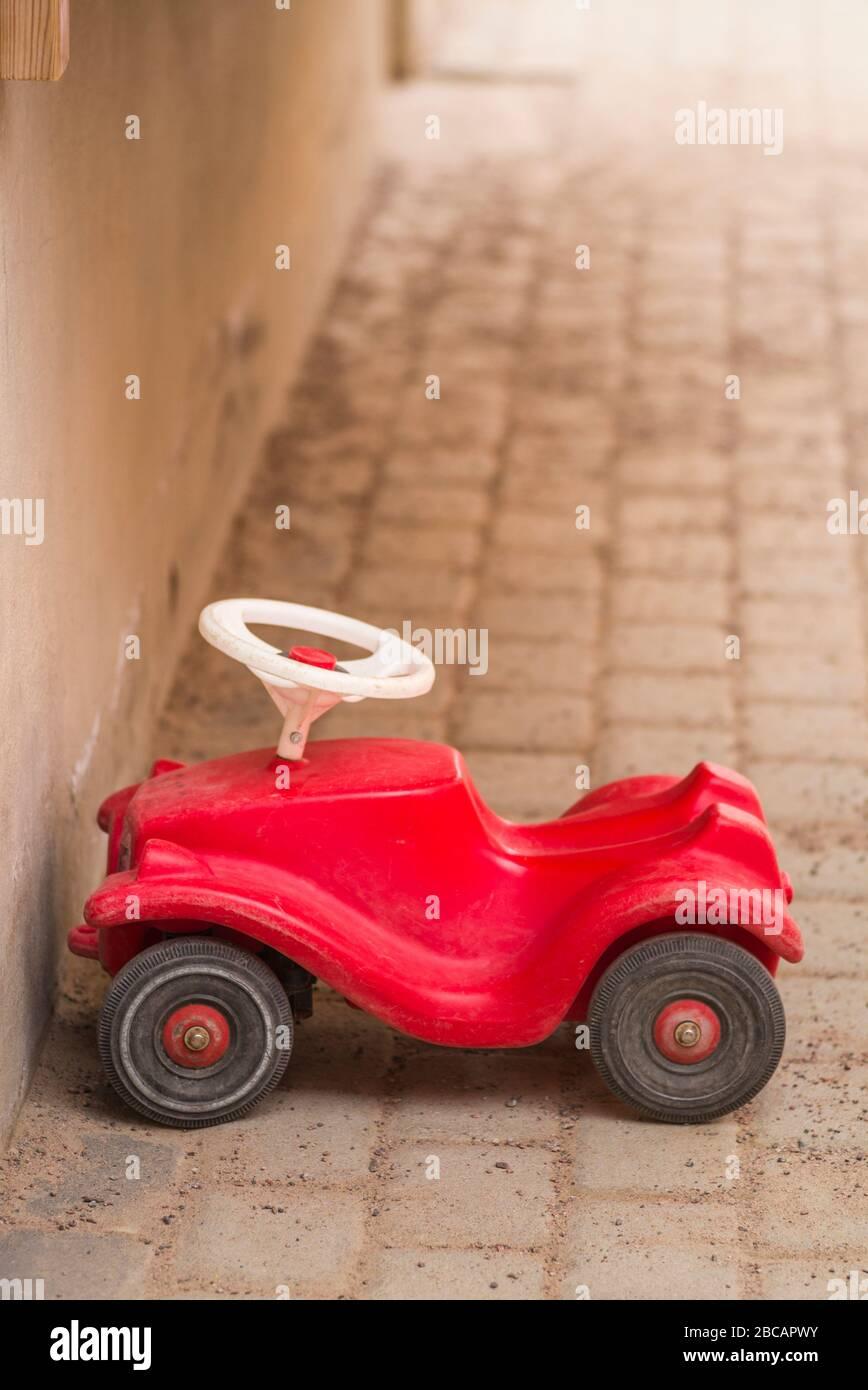 Sweden, Central Sweden, Uppsala, childrens toy car Stock Photo