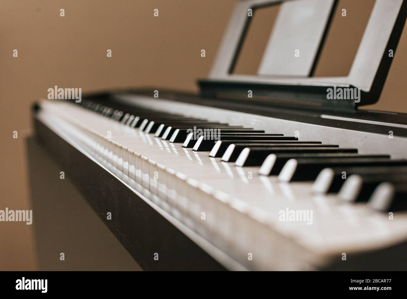 Piano keyboard musical ins.Piano keyboard Stock Photo